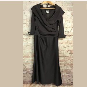 Tadashi Dress 14 Brown Formal Mother Of The Bride